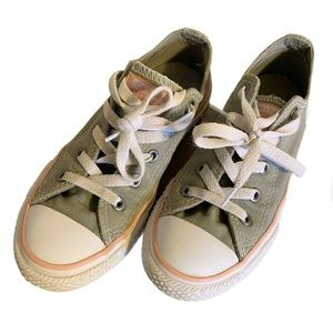 Converse Grey Canvas Sneakers - Girl's Size 1